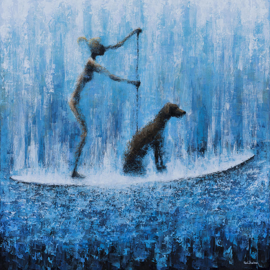 Ocean Painting - Lola In The Water by Ned Shuchter