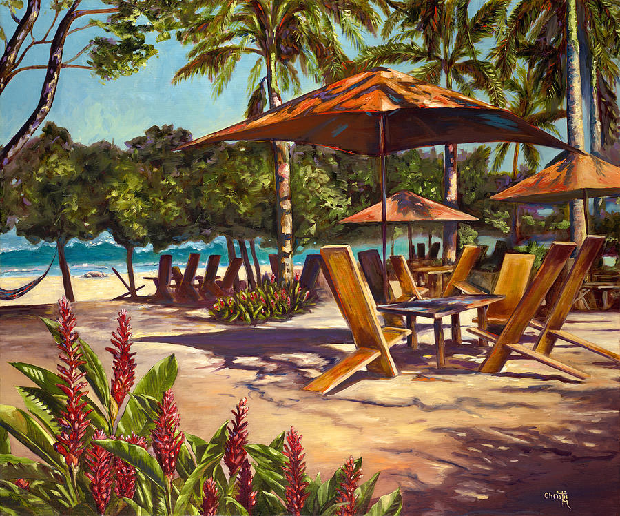 Tropical Painting - Lolas In Costa Rica by Christie Michael