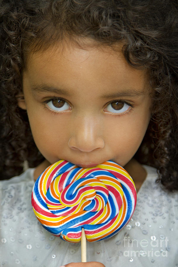 Miss Photograph - Lollipop by Evelina Kremsdorf