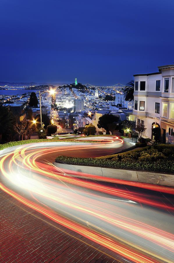 Lombard Street Photograph by Phoenix Wang