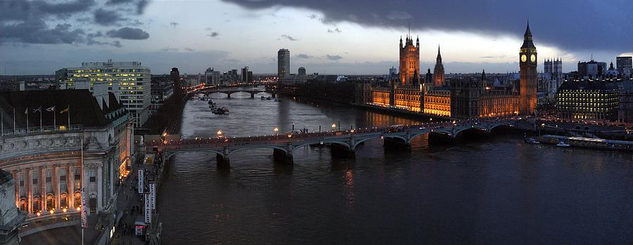 London At Dusk Photograph by Gary Lobdell