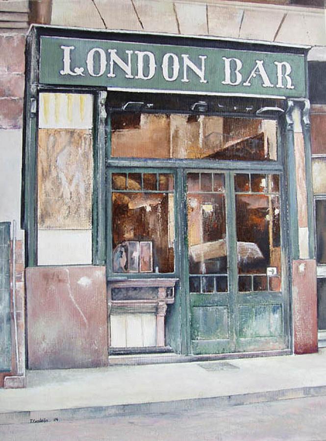 London Painting - London bar-Barcelona by Tomas Castano