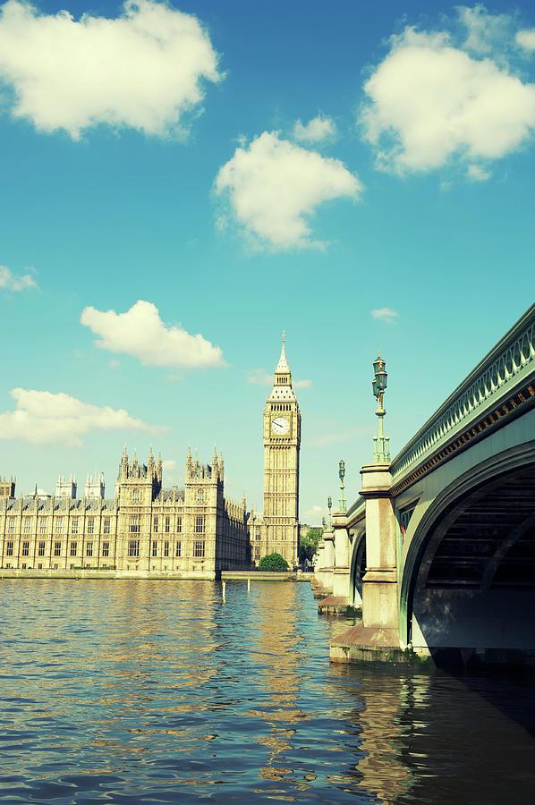 London Big Ben Houses Of Parliament Photograph by Peskymonkey