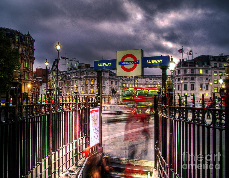 London Blur Photograph By GIStudio Photography