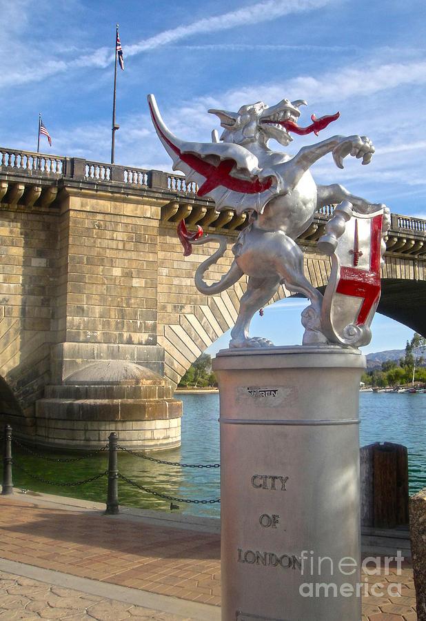 London Bridge Photograph - London Bridge Dragon by Gregory Dyer