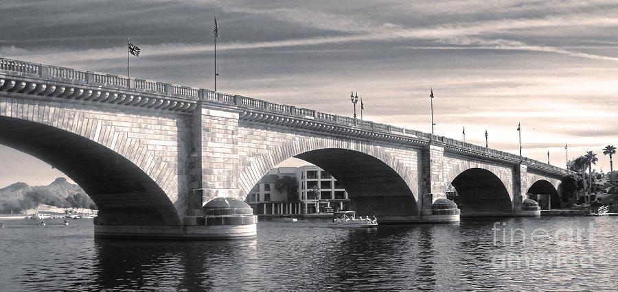 London Bridge Photograph - London Bridge Panorama by Gregory Dyer