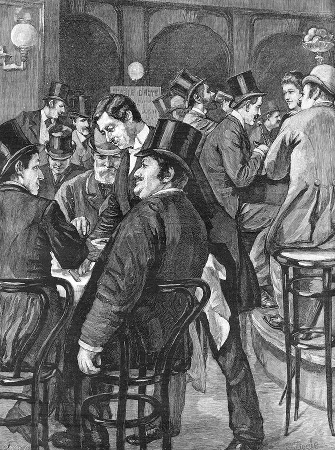 Businessmen Drawing - London Businessmen At Lunch, 1891 by  Illustrated London News Ltd/Mar