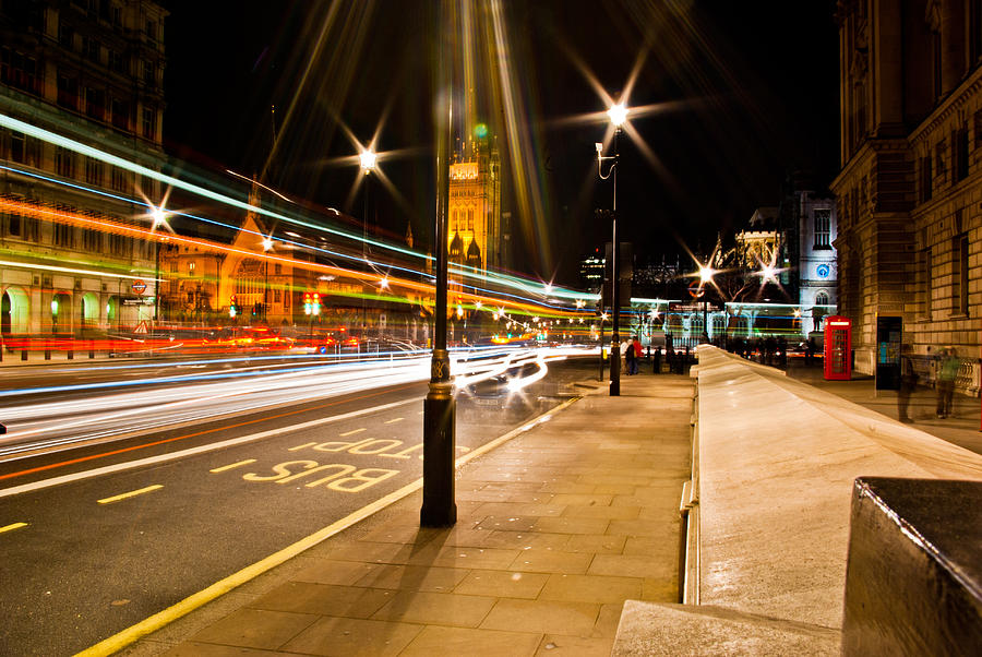 London Photograph - London By Night by Gabor Fichtacher