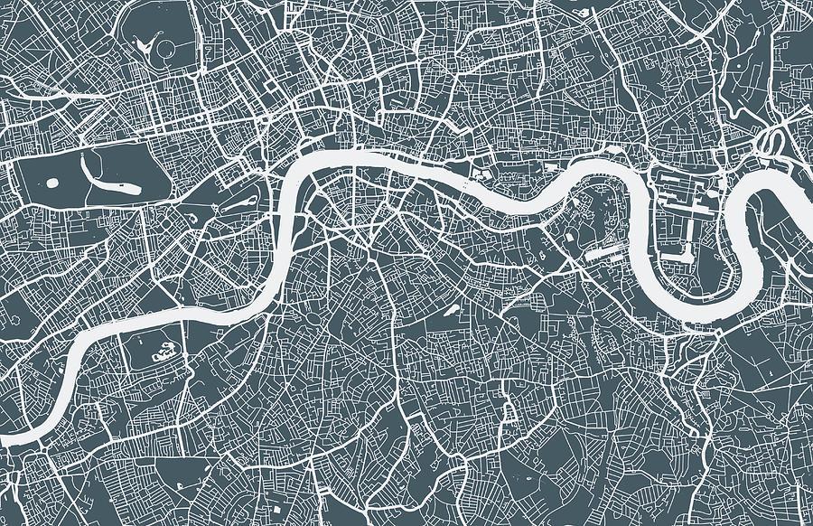 England Digital Art - London City Map by Mattjeacock