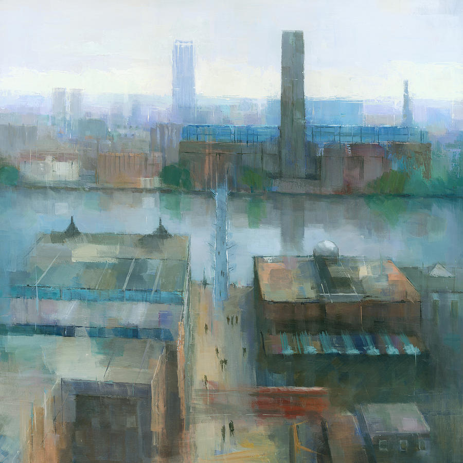 London Cityscape Painting By Steve Mitchell