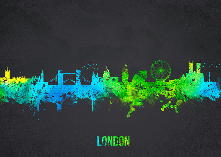 Architecture Digital Art - London England by Aged Pixel