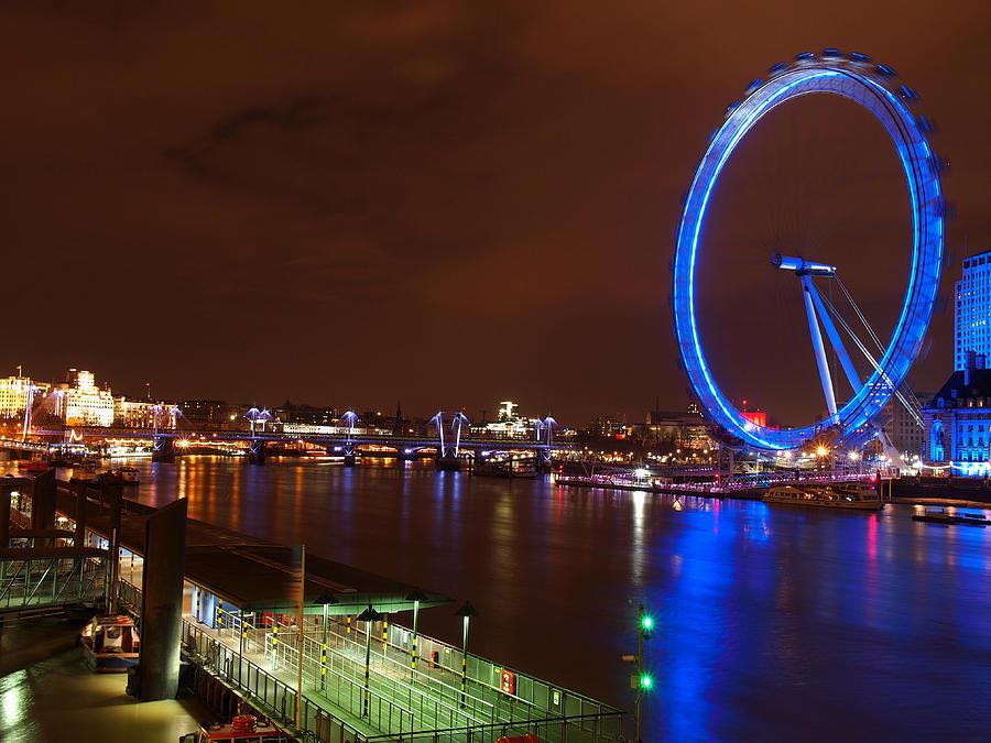 United Kingdom Photograph - London Eye By Night by Neven Milinkovic