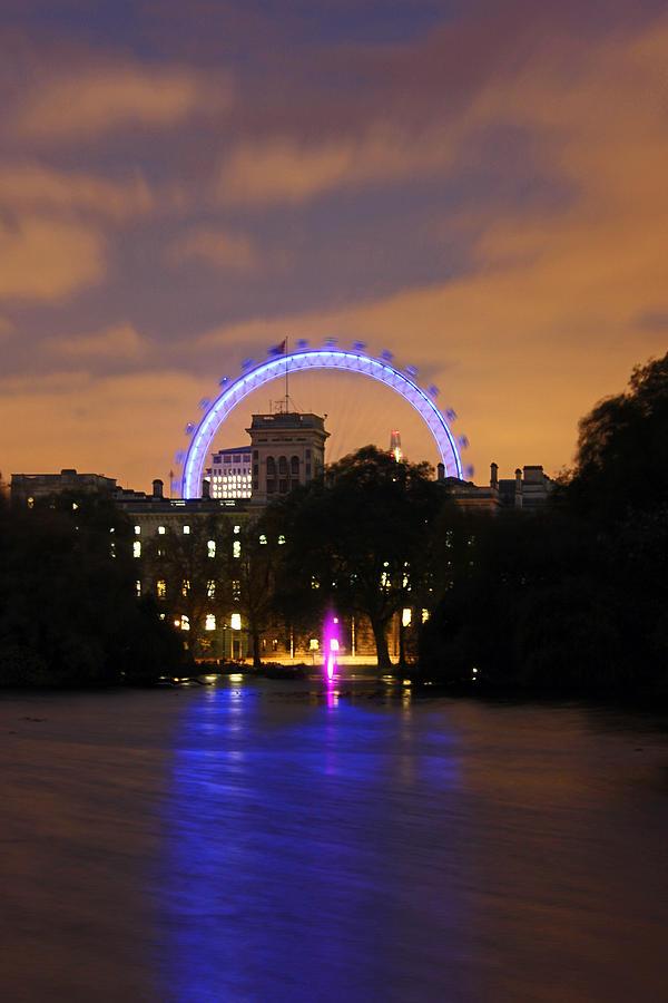 London Eye Photograph - London Eye From St James by Dan Davidson