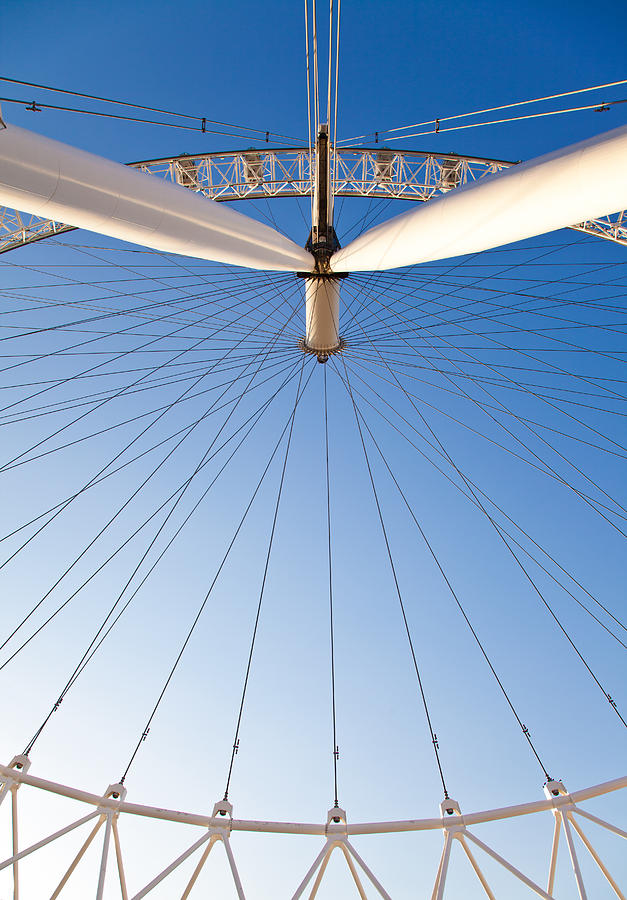 England Photograph - London Eye Geometry by Adam Pender