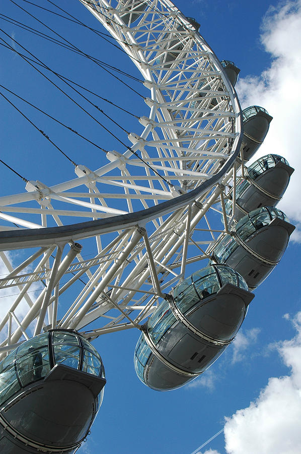 London Eye Photograph - London Eye by Pam  Elliott