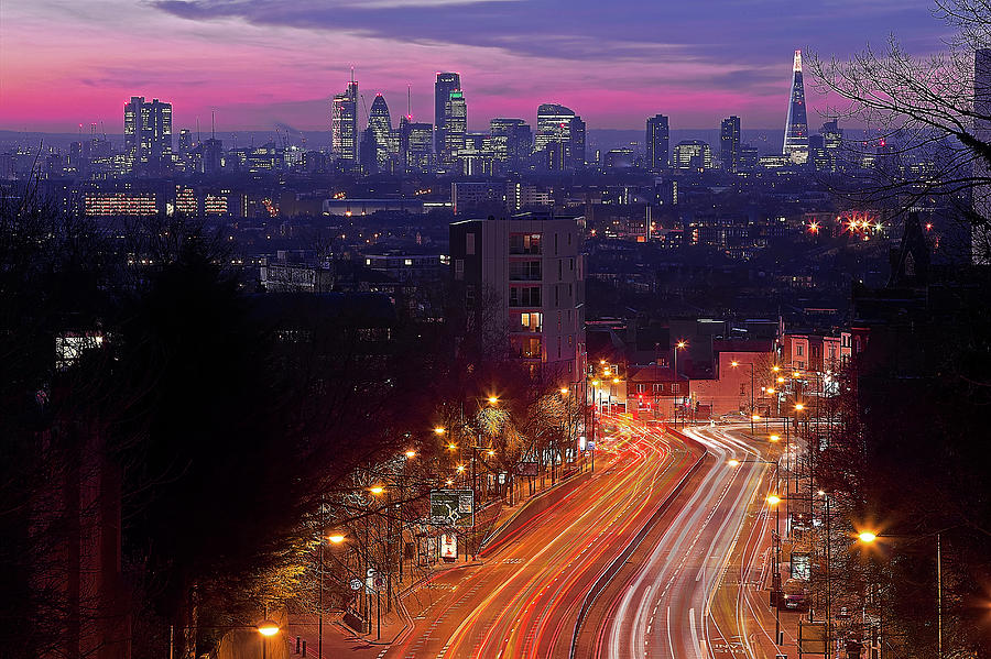 London From The Hornsey Lane Bridge Photograph by By Andrea Pucci