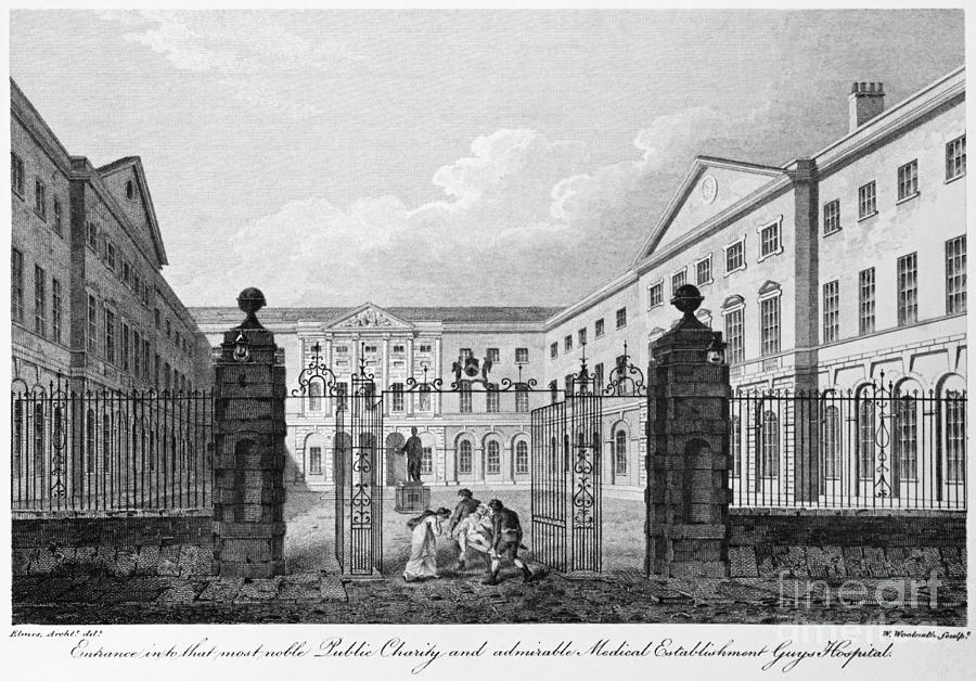1820 Photograph - London: Guys Hospital by Granger
