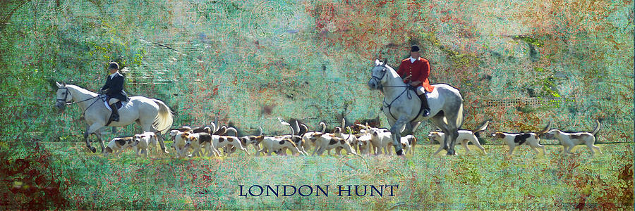White Digital Art - London Hunt by Melanie Prosser