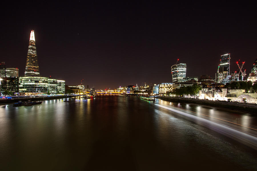 London Photograph - London Nightscape by Wayne Molyneux
