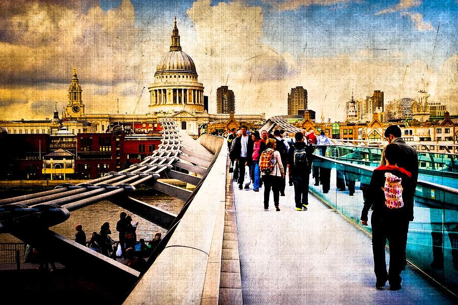 London Skyline Photograph - London Of My Dreams - St Pauls by Mark E Tisdale