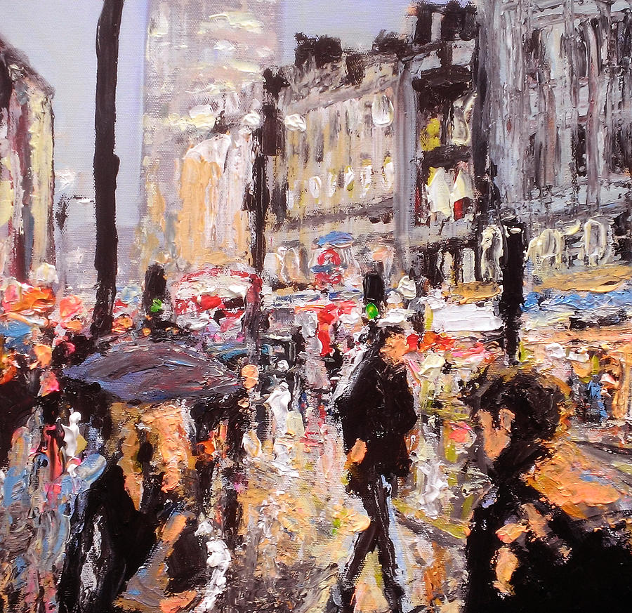 London Painting - London Oxford Street by Paul Mitchell