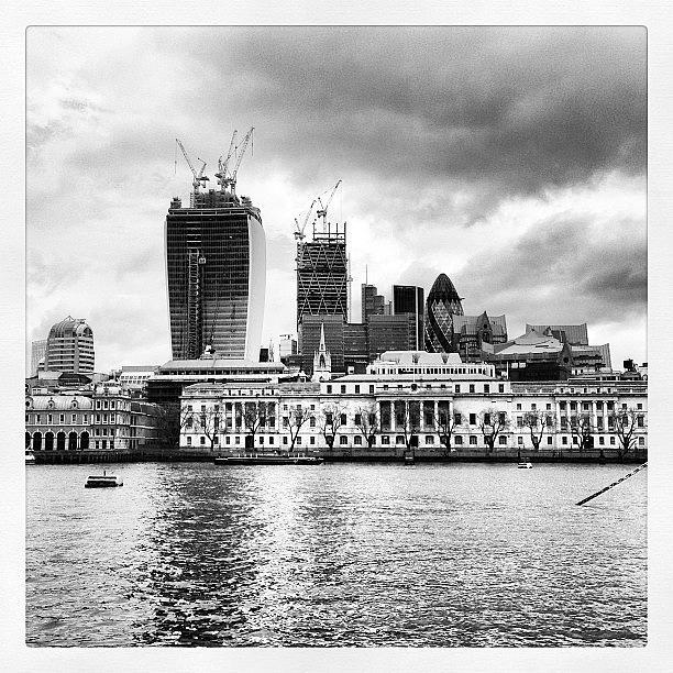 Construction Photograph - #london #skyline #gerkin #construction by Mark Harris