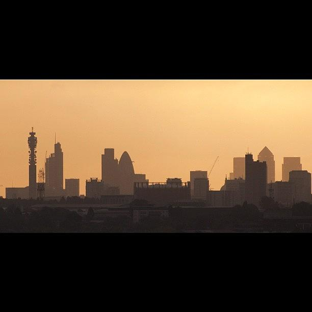 London Photograph - #london #skyline Just After #sunrise In by Londonshadow Londonshadow