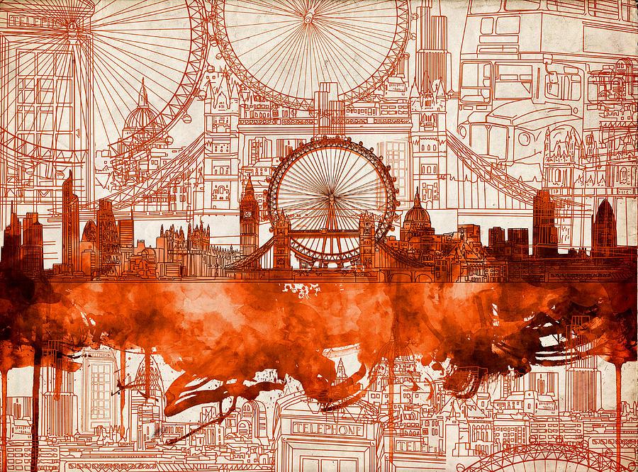 London Skyline Old Vintage 2 Painting By Bekim Art