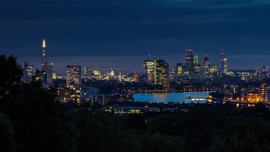 Nightscape Photograph - London Skyline by Wayne Molyneux