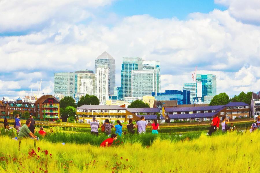 Artwork Photograph - London Skyscrapers by Tom Gowanlock
