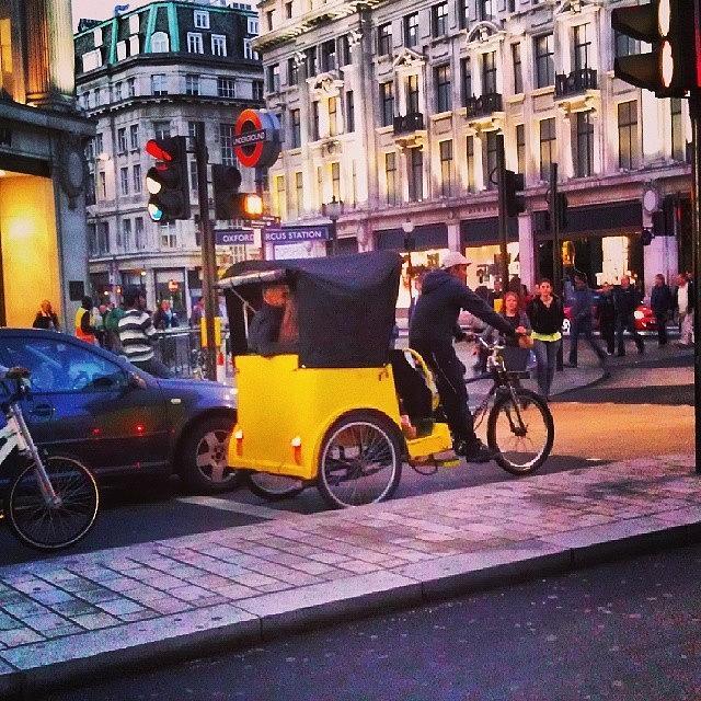 Buildings Photograph - #london #street  #streetphoto #cars by Abdelrahman Alawwad