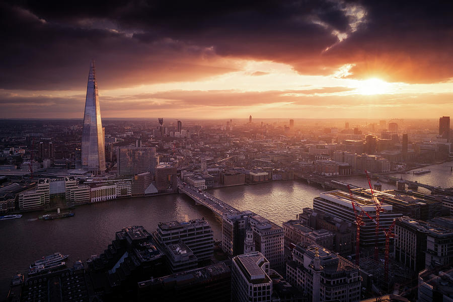 London Sunset View Photograph by Dennis Fischer Photography
