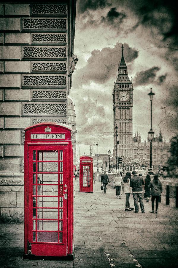 London Telephone Box Photograph