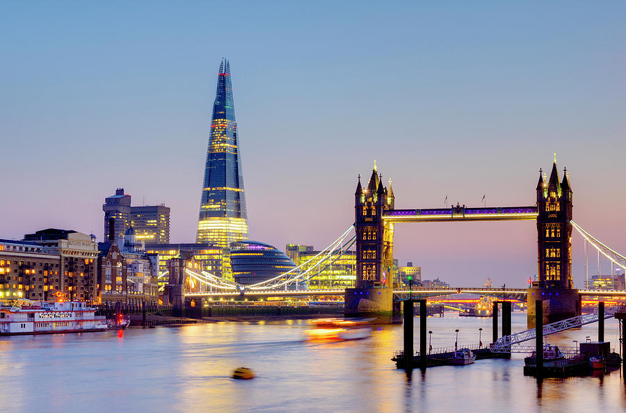 London, Tower Bridge, The Shard And Photograph by Alan Copson