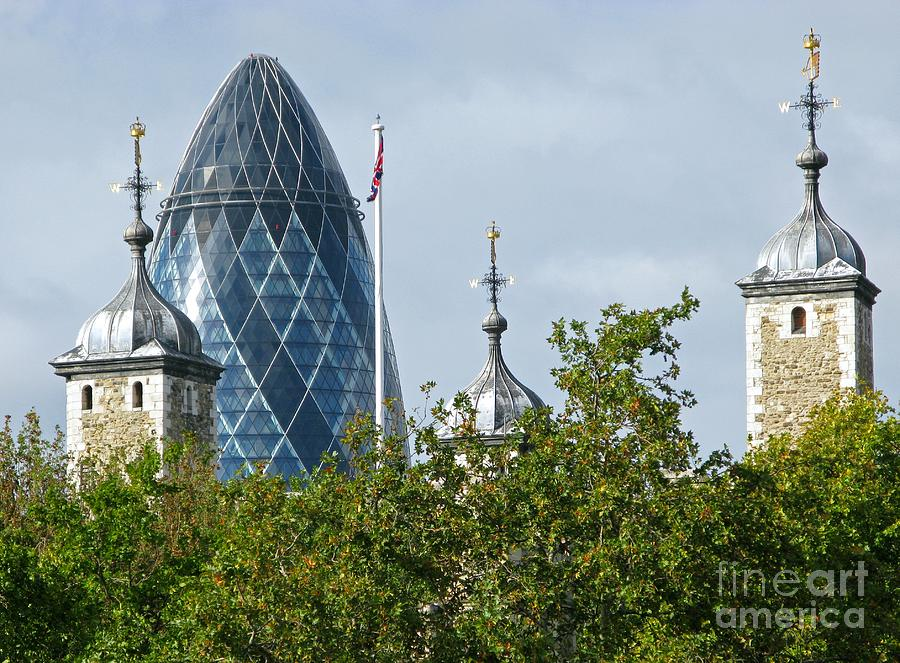 London Photograph - London Towers by Ann Horn