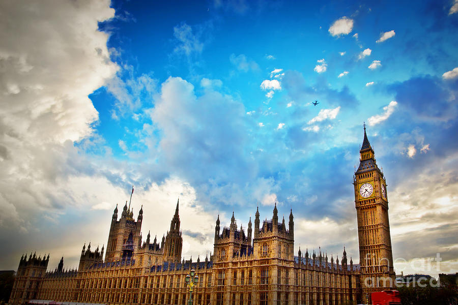 London Photograph - London Uk Big Ben The Palace Of Westminster by Michal Bednarek