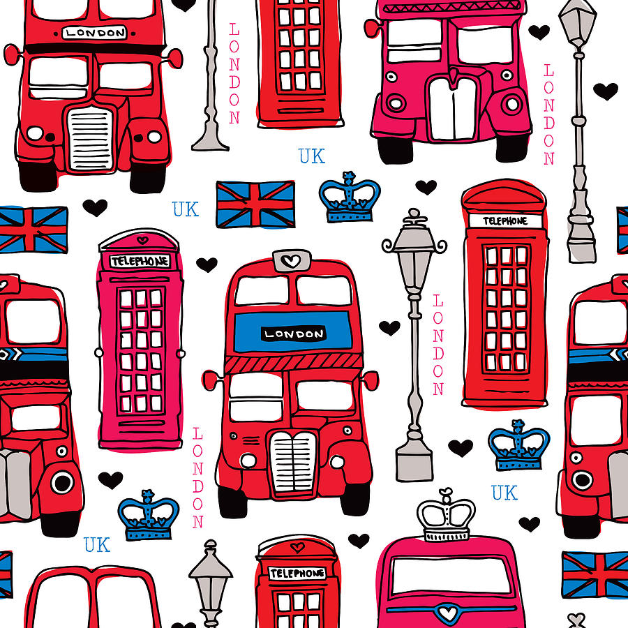London Uk Illustration Drawing By Little Smilemakers Studio