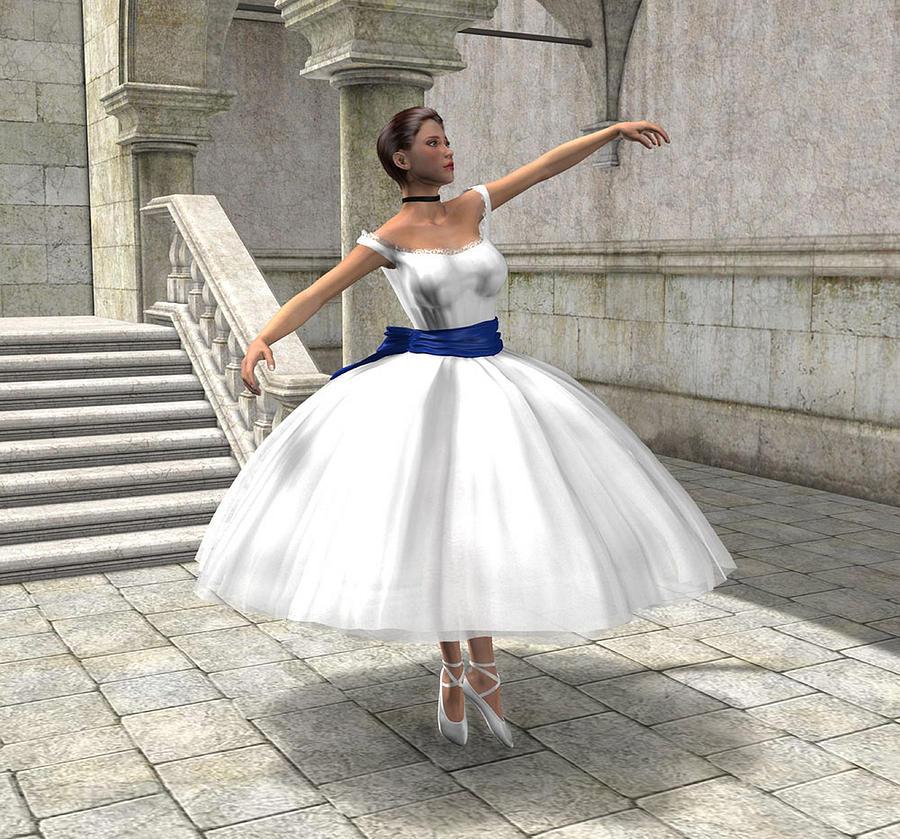 Ballet Digital Art - Lone Ballet Dancer by Jayne Wilson