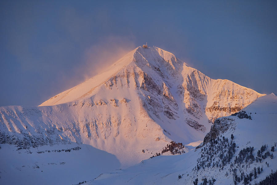 Lone Mountain Photograph - Lone Peak Alpenglow by Mark Harrington