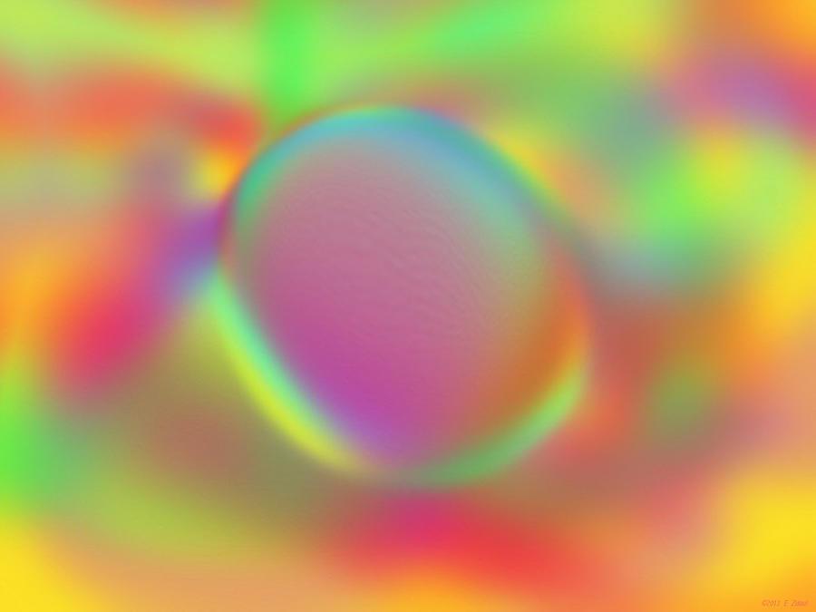 Pebble Digital Art - Lone Pebble by Elizabeth S Zulauf