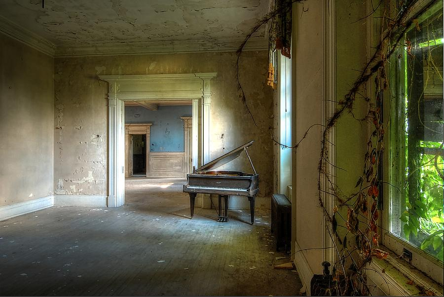 Lone Piano Photograph by Sheri Knauer