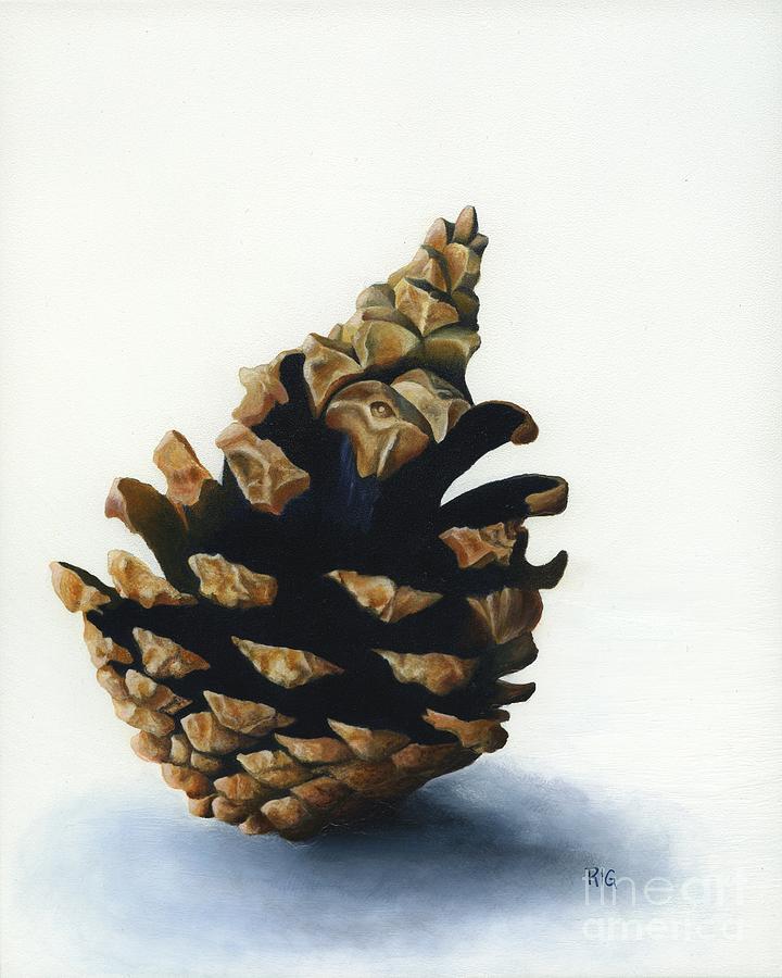 Lone Pinecone by Rosellen Westerhoff