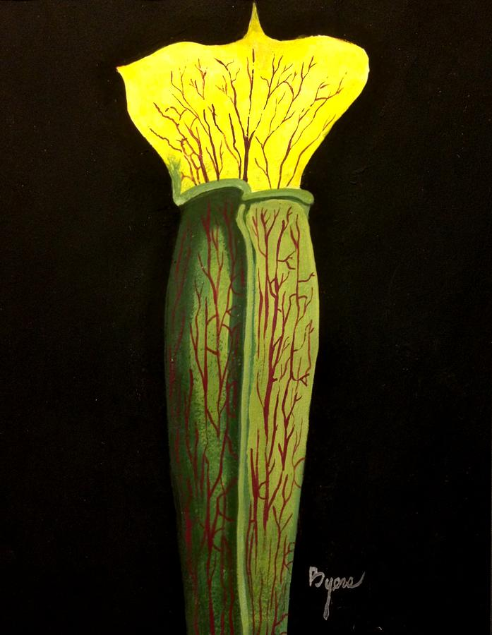 Lone Pitcher Plant Painting