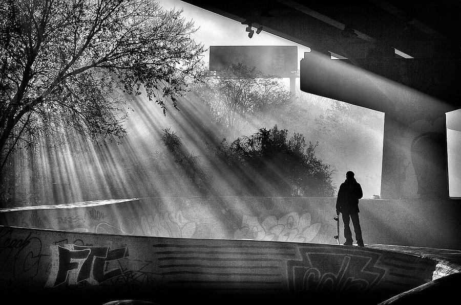 Skate Photograph - Lone Skater by Scott Wyatt