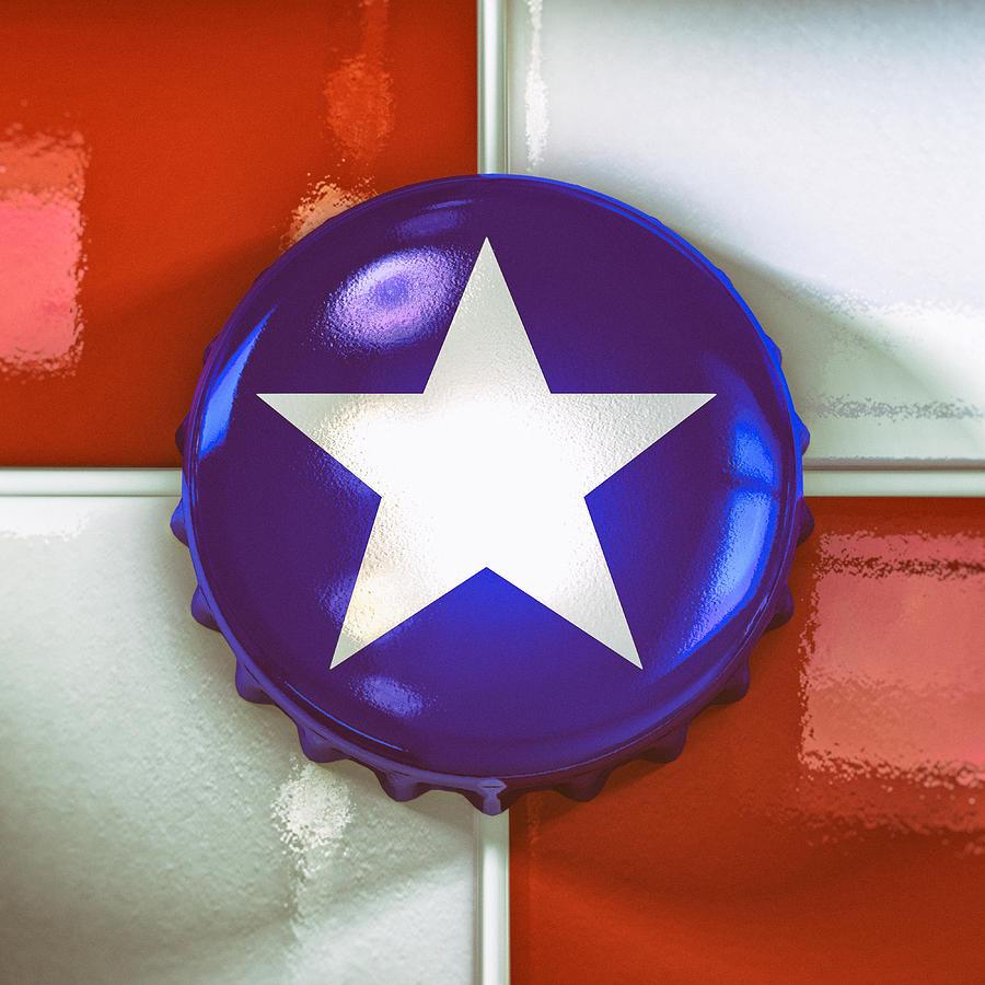 Texas Digital Art - Lone Star Beer by Scott Norris