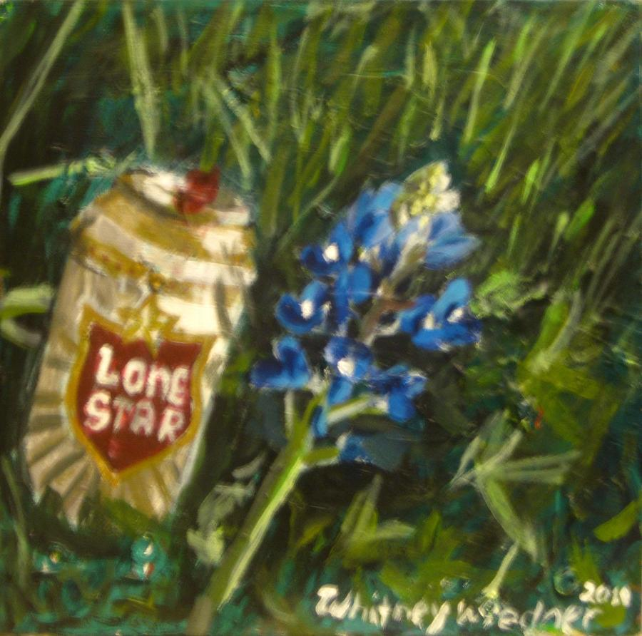 Beer Painting - Lone Star Blue by Whitney Wiedner