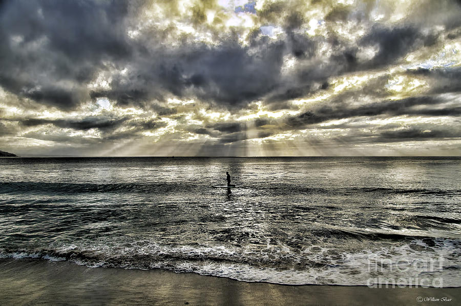 Seascapes Photograph - Lone Surfer by Bill Baer