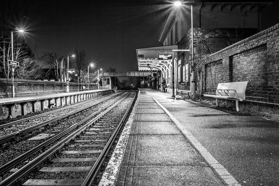 Railway Photograph - Lone Traveller. by Gary Gillette