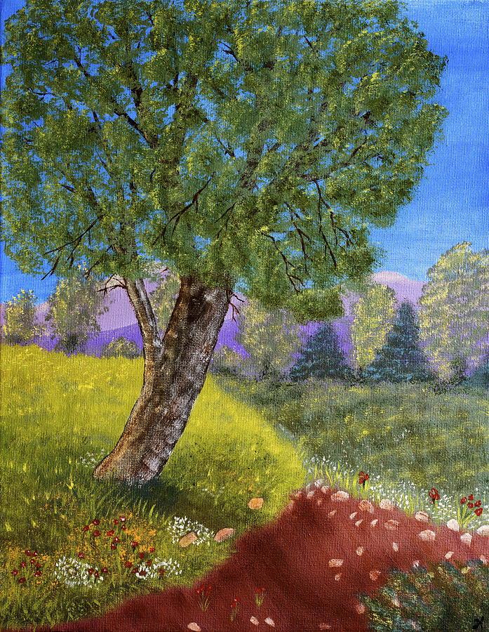 Landscape Painting - Lone Tree by Heidi Lynn