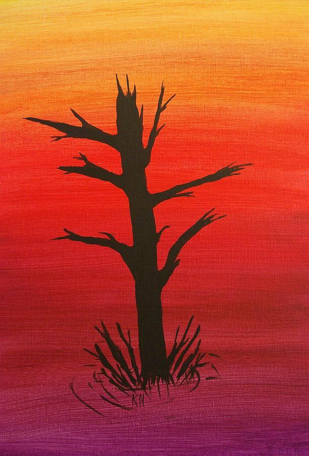 Tree Painting - Lone Tree by Keith Nichols